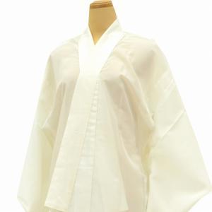 リサイクル着物 長襦袢 夏用 女物 中古 化繊 洗える 白 平絽 白系 ll1167c|hitotoki