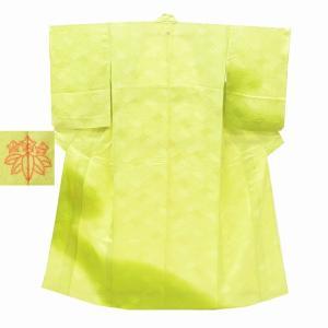 リサイクル着物 訪問着 中古 正絹 単衣 ちょっとふくよかL 緑系 Mサイズ ll2362b|hitotoki