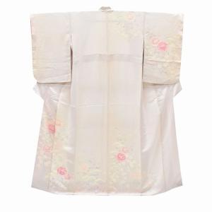 リサイクル着物 訪問着 中古 正絹 仕立て上がり ピンク系 Mサイズ  ll2630b|hitotoki
