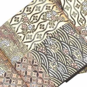 袋帯 中古 リサイクル着物 正絹 結婚式 ll3043b 吉祥文様 茶系|hitotoki