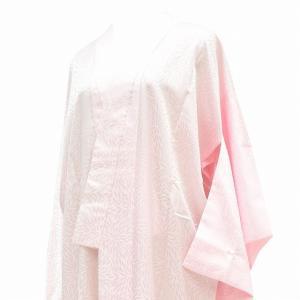 リサイクル着物 長襦袢 女物 中古 洗える 化繊 ピンク系 菊花文様 ll3170b|hitotoki