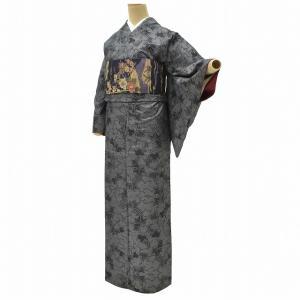 大島紬 着物 帯 セット 仕立て上がり 正絹 中古 リサイクル ちょっとふくよかL ll3440b ...