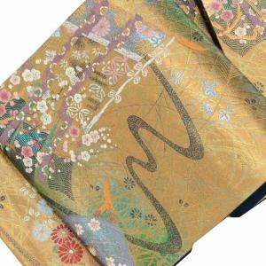 袋帯 リサイクル 帯 中古 リサイクル帯 正絹 仕立上がり 結婚式 振袖用 mm0402b|hitotoki