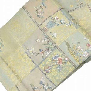 袋帯 リサイクル 帯 中古 リサイクル帯 正絹 仕立上がり 結婚式 mm0414b|hitotoki