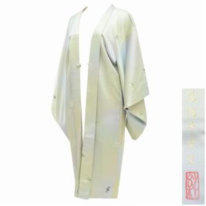 リサイクル 羽織 塵除け 正絹 ロング 丹後ちりめん はればれ加工済 ガード加工 さが美 残布有 落款有 美品 mm1575b|hitotoki