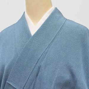 リサイクル 江戸小紋 正絹 未使用品 仕立て上がり 単衣 紋付 裄64.5cm  身丈162.7cm...