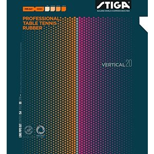 STIGA スティガ 卓球 ラバー 粒高ラバー バーティカル 20 ブラック 特薄 1710200106|hitte