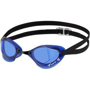 ビュー(VIEW) スイミングゴーグル 水泳 競泳用 スイミングゴーグル ブレード エフ ノーマルレンズ スワイプアンチフォグ搭載 Fina承認 CBL V122SA|hitte