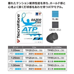 Tecnifibre(テクニファイバー) TFR514  カラー:BL RAZOR_CODE_1.25_200M