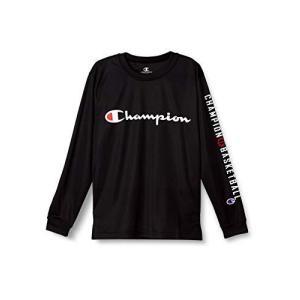 [チャンピオン] プラクティスロングTシャツ キッズ バスケットボール CK-SB418 ブラック 日本 130 (日本サイズ130 相当)|hitte