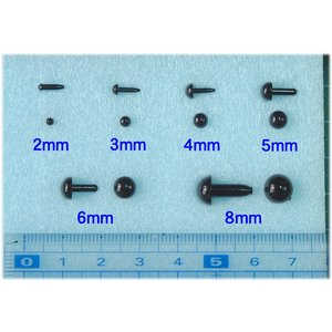 ◎さし目(黒)2〜8mmを10個単位での販売。|hituji-komono