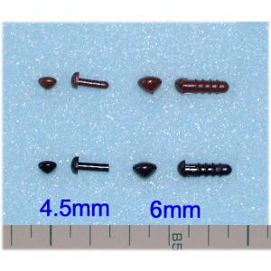 ◎さし鼻(茶・黒):10個入り(4.5〜12mm)