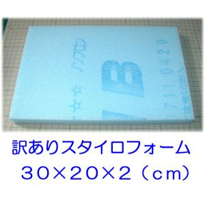 ◎訳ありスタイロフォーム板(訳スタ)厚さ2cm、30×20(cm)