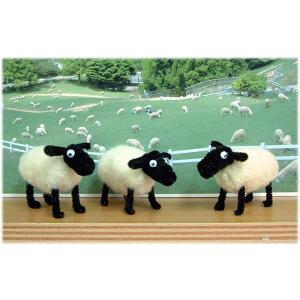 ◎ひつじクラブで販売しているフェルト人形のキットです。 ◎奈良県山添村にある「めえめえ牧場」の羊毛と...