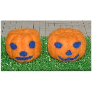 ◎ハロウィンのかぼちゃが2個入り羊毛フェルトキット|hituji2gou