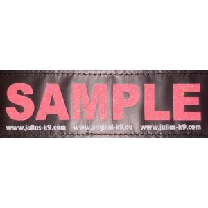 【2枚1セット】Julius K9 (黒地/きらきらパパイヤ) お名前入りラベル L サイズ|hivikigallery