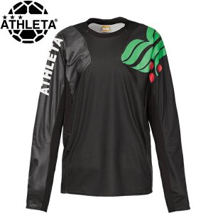 ATHLETA【アスレタ】 カラープラクティスシャツ 長袖プラシャツ 02308-BLK サッカー フットサル|hiyamasp