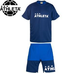 ATHLETA アスレタ プラクティスシャツ&プラクティスパンツ プラシャツ プラパン 02344-NVY-02345-NVY サッカー フットサル hiyamasp