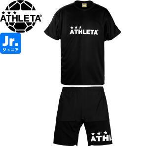 ATHLETA アスレタ ジュニア プラクティスシャツ&プラクティスパンツ プラシャツ プラパン 02344J-BLK-02345J-BLK サッカー フットサル hiyamasp