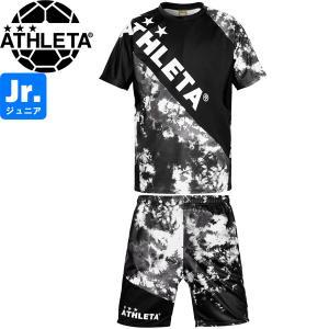 ATHLETA アスレタ ジュニア グラフィックプラクティスシャツ&プラクティスパンツ プラシャツ プラパン 02346J-BLK-02348J-BLK サッカー フットサル|hiyamasp