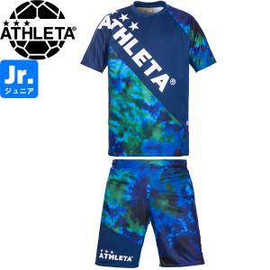 ATHLETA アスレタ ジュニア グラフィックプラクティスシャツ&プラクティスパンツ プラシャツ プラパン 02346J-NVY-02348J-NVY サッカー フットサル|hiyamasp