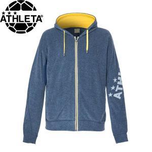 ATHLETA アスレタ 杢カラーパイルスZIPパーカー スウェットパーカー 03337-NVY サッカー フットサル|hiyamasp