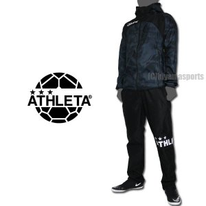 ea4b2ddd8ed9b ATHLETA アスレタ ストレッチトレーニングジャケット&ストレッチトレーニングパンツ 04124-CHA-04125-BLK ...