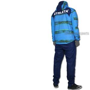 ATHLETA アスレタ ストレッチトレーニングジャケット&ストレッチトレーニングパンツ 04130-FSA-04131-NVY サッカー ジャージ|hiyamasp|02