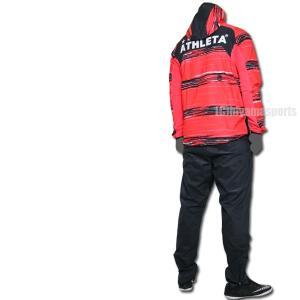 ATHLETA アスレタ ストレッチトレーニングジャケット&ストレッチトレーニングパンツ 04130-RED-04131-BLK サッカー ジャージ|hiyamasp|02
