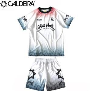 CALDEIRA キャルデラ プラシャツ&プラパンセット MELT DOWN REMIX 10CR012-WHT-10CR013-WHT フットサル サッカー hiyamasp