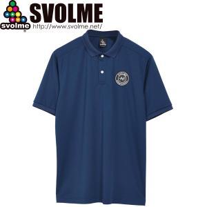 SVOLME スボルメ エンブレム ポロシャツ 1211-84100-NVY サッカー フットサル|hiyamasp