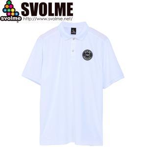 SVOLME スボルメ エンブレム ポロシャツ 1211-84100-WHT サッカー フットサル|hiyamasp