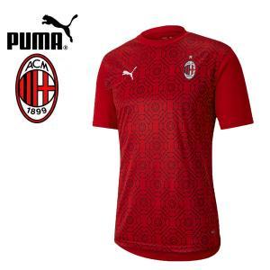 PUMA プーマ ACM ACミラン 2020-21 スタジアムシャツ プラシャツ 758229-01 プーマジャパン国内正規ライセンス商品|hiyamasp