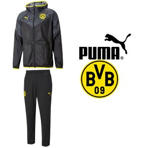 PUMA プーマ BVB ボルシア ドルトムント2020-21ウォームアップジャケット&ウォームアップパンツ 758585-02-758583-02 プーマジャパン国内正規ライセンス商品|hiyamasp