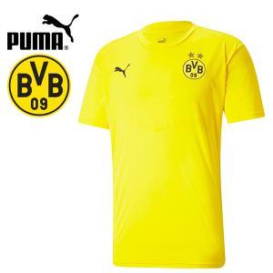 PUMA プーマ BVB ボルシア ドルトムント 2020-21 ウォームアップTシャツ プラシャツ 758586-01 プーマジャパン国内正規ライセンス商品|hiyamasp