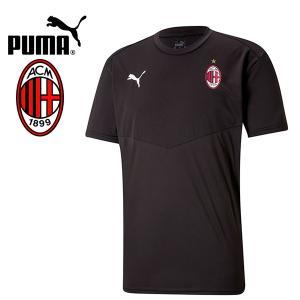 PUMA プーマ ACM ACミラン 2020-21 ウォームアップTシャツ プラシャツ 758632-02 プーマジャパン国内正規ライセンス商品|hiyamasp