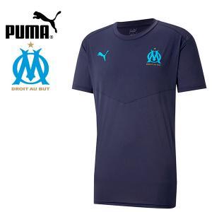 PUMA プーマ OM オリンピックマルセイユ 2020-21 ウォームアップTシャツ プラシャツ 758653-01 プーマジャパン国内正規ライセンス商品|hiyamasp