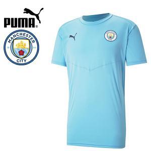 PUMA プーマ MCFC マンチェスターシティ 2020-21 ウォームアップTシャツ プラシャツ 758698-01 プーマジャパン国内正規ライセンス商品|hiyamasp