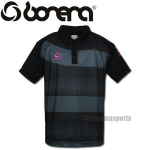 BONERA【ボネーラ】ドットボーダー ポロシャツ ボタンダウン BNR-PLS012-BLK サッカー フットサル hiyamasp