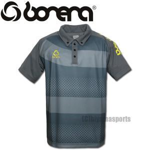 BONERA【ボネーラ】ドットボーダー ポロシャツ ボタンダウン BNR-PLS012-GRY サッカー フットサル hiyamasp