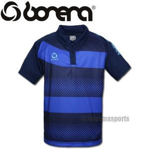 BONERA【ボネーラ】ドットボーダー ポロシャツ ボタンダウン BNR-PLS012-NVY サッカー フットサル hiyamasp