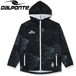 DalPonte ダウポンチ BR総柄アンセムジャケット ピステジャケット DPZ0323-BLK サッカー フットサル|hiyamasp