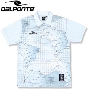 DalPonte ダウポンチ BR総柄ポロシャツ DPZ0327-WHT サッカー フットサル|hiyamasp
