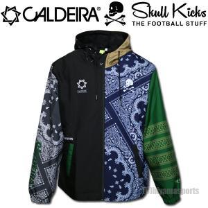 CALDEIRA×SKULL KICKS キャルデラ×スカルキックス 9thアニバーサリー フーデッドジャケット ピステウインドブレーカー EX033 サッカー フットサル|hiyamasp
