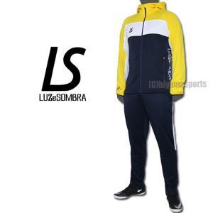 LUZeSOMBRA ルースイソンブラ ストリームライン トレーニングジャージセット STREAM LINE TRAINING JERSEY TOP BOTTOM SET F1811600-NVYYEL|hiyamasp