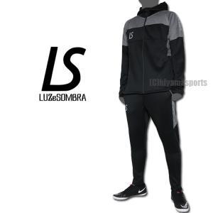 LUZeSOMBRA ルースイソンブラ シングルフェイスジャージフーディーフルジップジャケット&ロングパンツ F1911114-BLK-F1911410-BLK|hiyamasp
