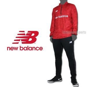 new balance ニューバランスフットボール ジャージ上下 ウォームアップジャケット&ウォームアップパンツ JMTF0409-RED-JMPF0410-BK サッカー|hiyamasp