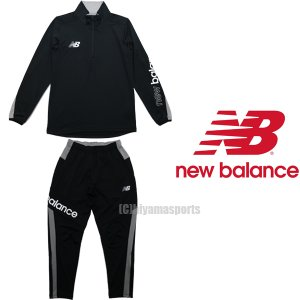 new balance ニューバランスフットボール ジャージ上下 ミドルレイヤートップロングスリーブ&ミドルレイヤーロングパンツ JMTF1008-BK-JMPF1009-BK サッカー|hiyamasp