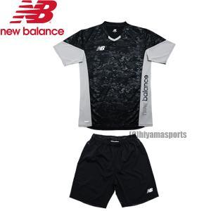 new balance ニューバランスフットボール プラクティスシャツ ショートスリーブ&ゲームショーツ プラシャツ プラパン JMTF1011-BK-JMSF1014-BK サッカー|hiyamasp