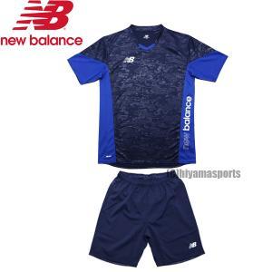new balance ニューバランスフットボール プラクティスシャツ ショートスリーブ&ゲームショーツ プラシャツ プラパン JMTF1011-NV-JMSF1014-NV サッカー|hiyamasp